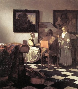 The Concert Baroque Johannes Vermeer Oil Paintings