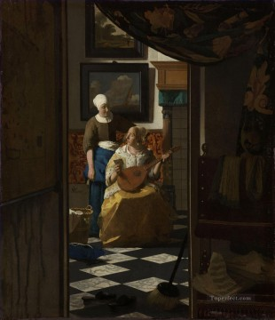 Love Painting - The Love Letter Baroque Johannes Vermeer