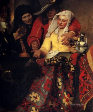 Johannes Vermeer Painting - The Procuress Baroque Johannes Vermeer