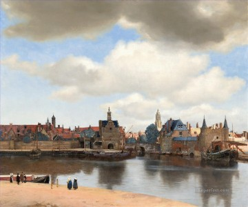 View of Delft Baroque Johannes Vermeer Oil Paintings