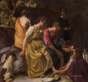 Diana and Her Companions Baroque Johannes Vermeer Oil Paintings