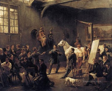 Horace Vernet Painting - The Artists Studio Horace Vernet