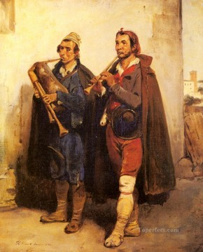 Village Musicians Horace Vernet Oil Paintings