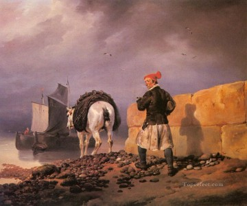 A Fisherman Setting Out Horace Vernet Oil Paintings