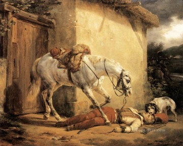 The Wonded Trumpeter Horace Vernet Oil Paintings