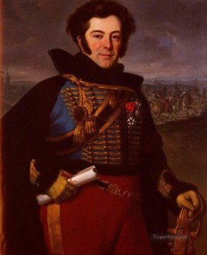 Vernet Emile Jean Horace Portrait Of Lieutenant Colonel Comte De Thalouet Horace Vernet Oil Paintings