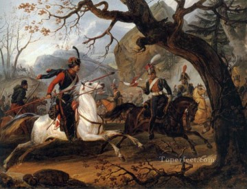 Napoleonic Battle in the Alps Horace Vernet Oil Paintings