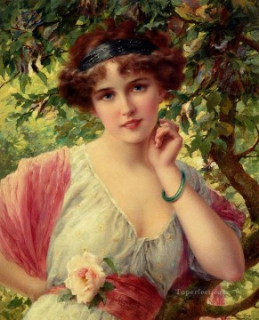 Summer Art - A Summere Rose girl Emile Vernon