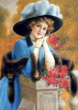 Carnations Art - Carnations Are For Love girl Emile Vernon