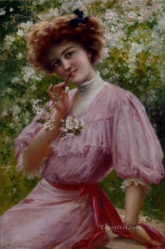ink Art Painting - Pretty In Pink girl Emile Vernon
