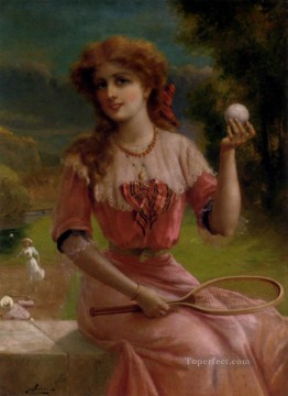 Emile Vernon Painting - Tennins Anyone girl Emile Vernon