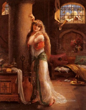 Emile Vernon Painting - The Secret Message girl Emile Vernon