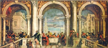 Feast in the House of Levi Renaissance Paolo Veronese Oil Paintings
