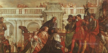 The Family of Darius before Alexander Renaissance Paolo Veronese Oil Paintings