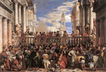 The Marriage at Cana Renaissance Paolo Veronese Oil Paintings