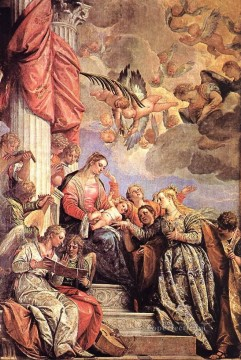 Paolo Veronese Painting - The Marriage of St Catherine Renaissance Paolo Veronese
