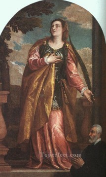 Paolo Canvas - St Lucy and a Donor Renaissance Paolo Veronese
