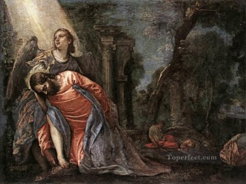 Christ in the Garden Supported by an Angel Renaissance Paolo Veronese Oil Paintings