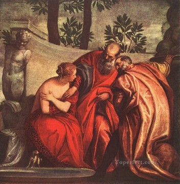 Susanna in the Bath Renaissance Paolo Veronese Oil Paintings