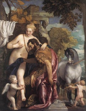 Mars and Venus United by Love Renaissance Paolo Veronese Oil Paintings