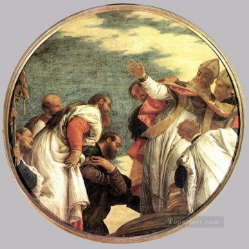The People of Myra Welcoming St Nicholas Renaissance Paolo Veronese Oil Paintings