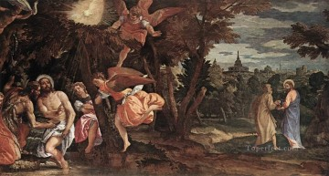baptism of christ Painting - Baptism and Temptation of Ch Renaissance Paolo Veronese