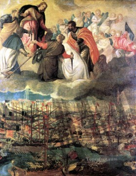 Paolo Canvas - Battle of Lep Renaissance Paolo Veronese