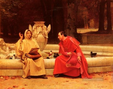 George Painting - A Fine Point academic painter Jehan Georges Vibert