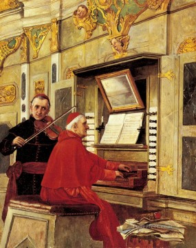 George Painting - The Duet academic painter Jehan Georges Vibert