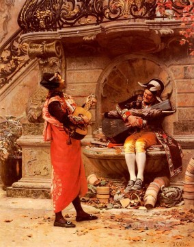 George Painting - The Serenade academic painter Jehan Georges Vibert