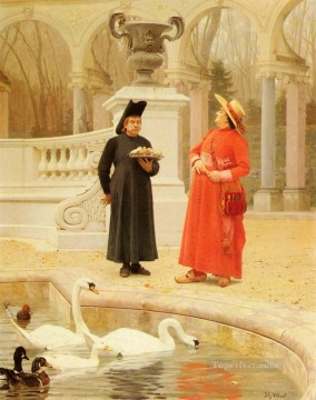 A Plate Of Cakes academic painter Jehan Georges Vibert Oil Paintings