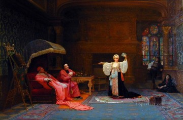 George Painting - Fortune Teller academic painter Jehan Georges Vibert