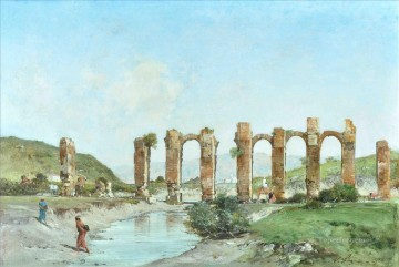 Artworks by 350 Famous Artists Painting - RUINAS DE ACUEDUCTO Victor Huguet Orientalist