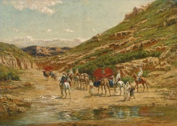 Artworks by 350 Famous Artists Painting - CARAVANE DANS LE DESERT Victor Huguet Orientalist