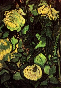 Roses and Beetle Vincent van Gogh Oil Paintings