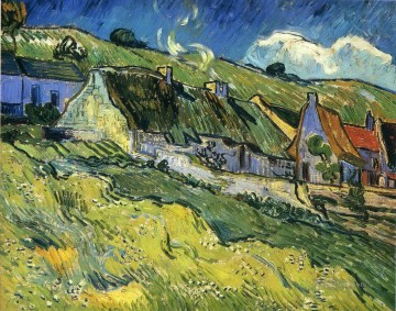 A Group of Cottages Vincent van Gogh Oil Paintings