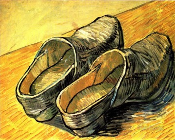 Vincent Van Gogh Painting - A Pair of Leather Clogs Vincent van Gogh