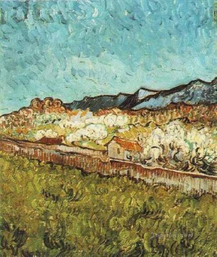 mountains Canvas - At the Foot of the Mountains Vincent van Gogh