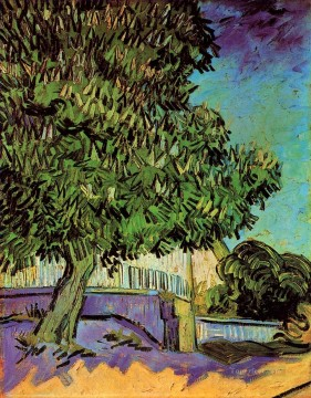 Vincent Van Gogh Painting - Chestnut Tree in Blossom Vincent van Gogh