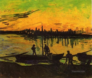 Coal Barges 2 Vincent van Gogh Oil Paintings