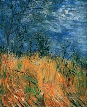 POP Oil Painting - Edge of a Wheatfield with Poppies Vincent van Gogh