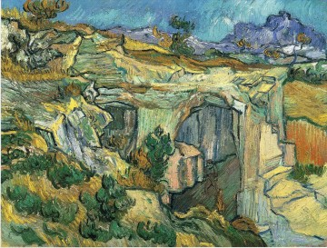 Vincent Van Gogh Painting - Entrance to a Quarry near Saint Remy Vincent van Gogh