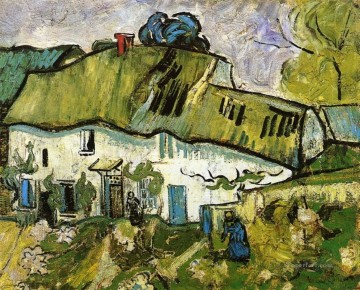 Farmhouse with Two Figures Vincent van Gogh Oil Paintings