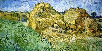 Vincent Van Gogh Painting - Field with Stacks of Wheat Vincent van Gogh