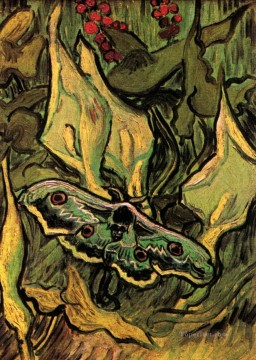 Vincent Van Gogh Painting - Great Peacock Moth Vincent van Gogh