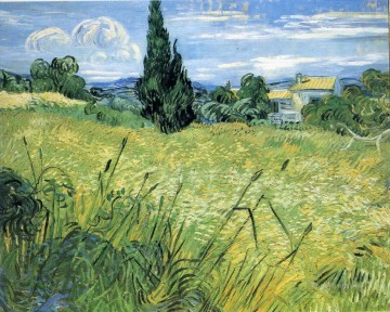 Green Wheat Field with Cypress Vincent van Gogh Oil Paintings