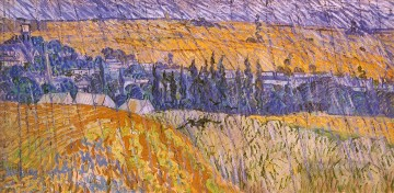 Landscape in the Rain Vincent van Gogh Oil Paintings