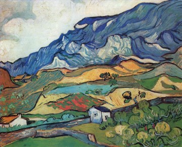 Vincent Van Gogh Painting - Les Alpilles Mountain Landscape near South Reme Vincent van Gogh