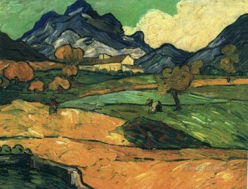 Vincent Van Gogh Painting - Mount Gaussier with the Mas de Saint Paul Vincent van Gogh