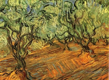 Olive Grove Bright Blue Sky 2 Vincent van Gogh Oil Paintings